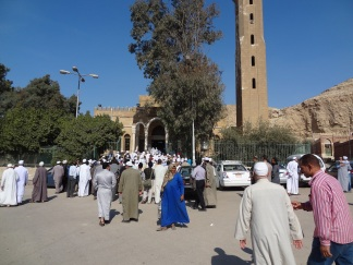 Outside the mosque of the great Imam Ibn Ata' Illah Al-Sakandari